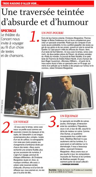Article dans L'Express (27.10.16) - Neuchâtel